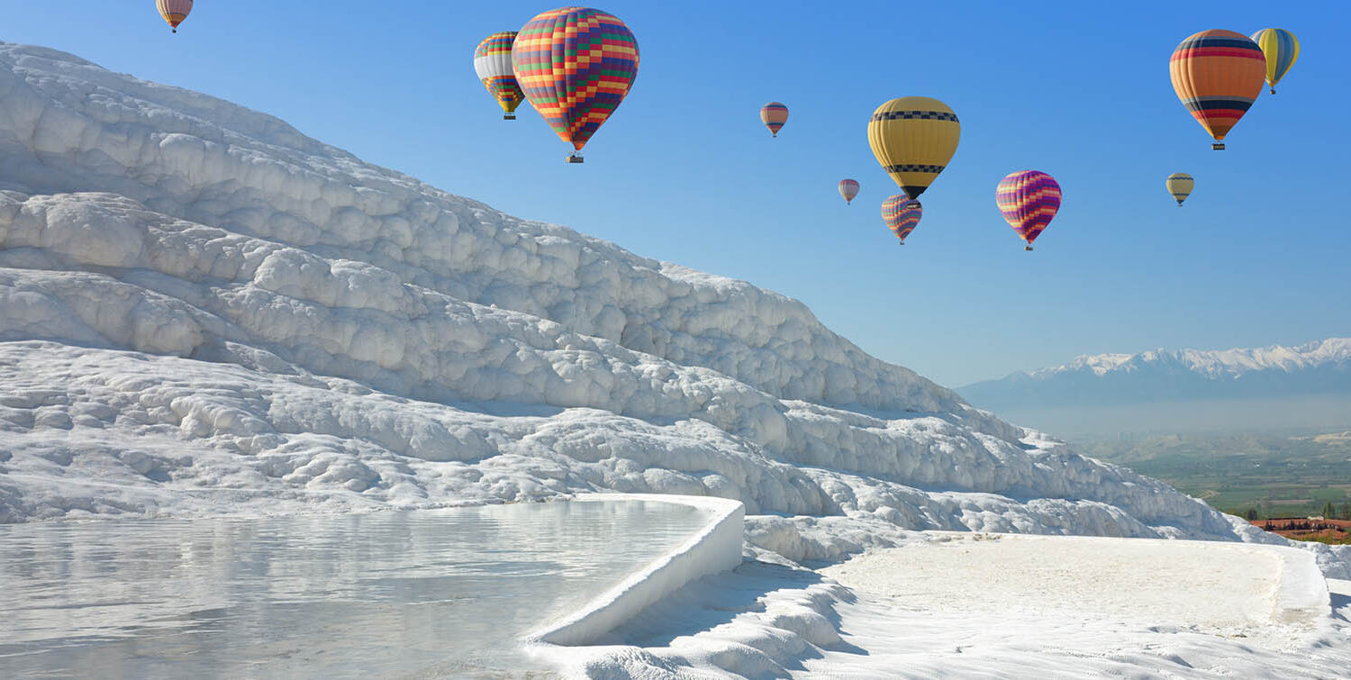 Hot Air Balloon in Pamukkale