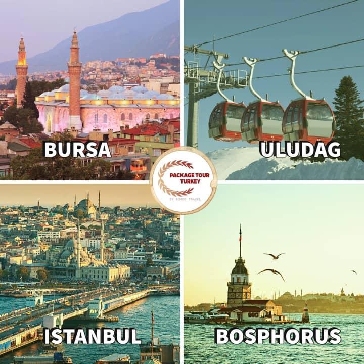 4 days istanbul and bursa tour
